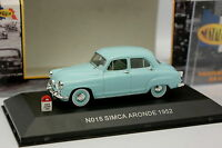 Nostalgie 1/43 - Simca Aronde 1952 Turquoise