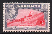 Gibraltar 6d Stamp c1938-51 Mounted Mint Hinged Perf 13.5(tiny gum tone) (7719)