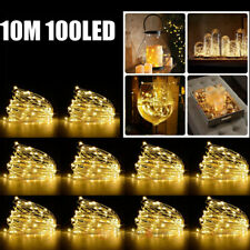 100 LED 10M Christmas Tree Fairy String Party Light Xmas Waterproof Lamp Warm W