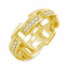 0.50 Ct Round Diamond Men's Eternity Wedding Ring 14k Gold Yellow Band F Vs1