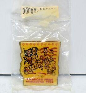 "1992 Olympics Barcelona Dream Team ""ONE"" porcelain Basketball Pin NEW / SEALED"