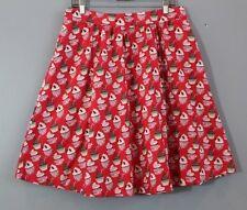 RETROLICIOUS Sz XL Cupcake Print A-Line Cotton Skirt Red Pink NWT Modcloth