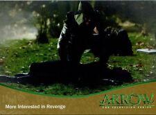 Arrow Season 1 Gold Parallel Base Card #49 More Interested in Revenge