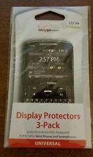 "3 x Bilora LCD Guard cover de vidrio contra para 2,7/"" pantallas universal 2002-27 nuevo"