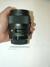 Sigma 35mm F1.4 ART DG HSM NEW PRIME WIDE Lens for SIGMA CAMERA in FACTORY BOX