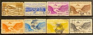 CANAL ZONE - DIFFERENT TOPICS - LOT OF 8 USED STAMPS