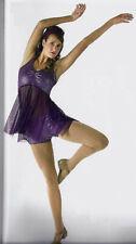 Child 6x7 Purple Sparkle Lyrical Dance Dress Costume