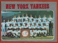 1970 Topps #399 Yankees Team VG-VGEX Thurman Munson Bobby Cox FREE SHIPPING
