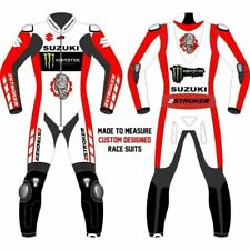 Suzuki New Motorcycle Motorbike Armor Protection Racing 1&2 Pieces Leather Suit