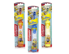Colgate Kids Battery Powered Extra Soft Toothbrush Minions Brand New- 3 brushes