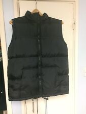 Bomber sleeveless Reversible  Military ,green fleece and black  Large Jacket