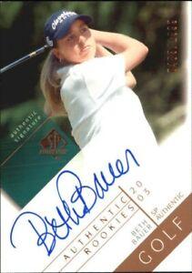 2003 SP Authentic Golf Card #128 Beth Bauer AU/1999 Rookie
