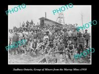 OLD POSTCARD SIZE PHOTO OF SUDBURY ONTARIO VIEW OF THE MURRAY MINE c1910