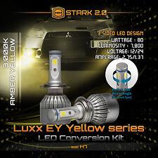 Stark 80W 7800LM Flip COB LED Kit 3000K Yellow Light Bulbs Fog Lights - H7