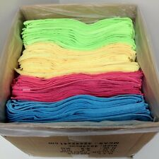"""96 Microfiber 14""""x14"""" Cleaning/Auto Detailing Cloths Towels MIXED COLORS 300GSM"""