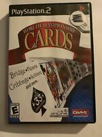 WORLD CHAMPIONSHIP CARDS - PS2 - COMPLETE W/ MANUAL - FREE S/H - (T3)