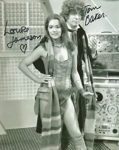 Tom Baker and Louise Jameson Dr Who hand signed photo with COA