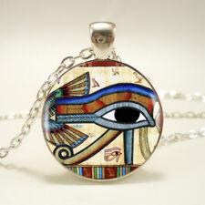 EGYPTIAN EYE OF RA HORUS PENDANT NECKLACE Glass Jewellery Gift Idea Egypt God