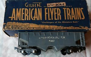 AMERICAN FLYER S scale HOPPER 640 with box