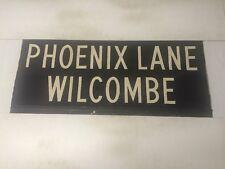 """Devon Vintage Linen Bus Blind 1966 33""""- Phoenix Lane Wilcombe"""