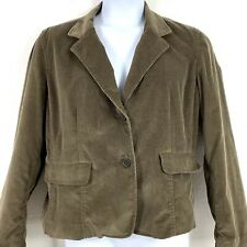 New Frontier XL Corduroy Jacket Blazer Brown Button Front Long Sleeved Womens