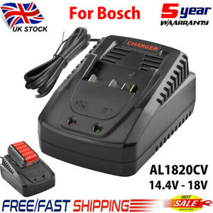 Fast Charger For Bosch AL 1820 CV 14.4V-18V Li-Ion Battery BAT607 BAT609 BAT610
