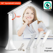 Foldable LED Table Lamp Make-up Manicure Light Desk Reading Bedside White Light