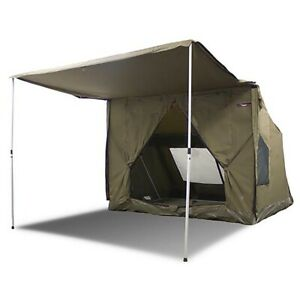 Oztent RV-5 Heavy Duty 5 Person Waterproof Camping Tent with Sun Awning, Green