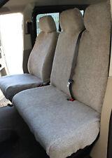VW Transporter T4 T5 T6 GREY SHEEPSKIN Faux FUR VAN Seat Covers 2+1