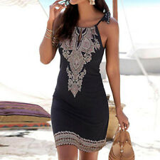 Fashion Womens Sleeveless Evening Cocktail Beach Short Mini Dress Sundress VS