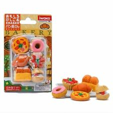 Iwako Japanese Eraser Bakery Blister Set (6pcs and a plate)