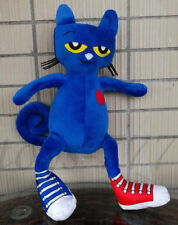 "Pete the Cat Character 12"" Stuffed Animal picture book White Shoes cat Plush Toy"