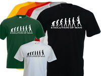 T-shirt  homme Evolution of man TENNIS PLAYER, S, M, L, XL, NEUF.. NEW
