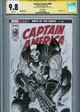 CROSSBONES Sketch cover art by BRIAN LEVEL CGC SS 9.8 Marvel Disney Avengers