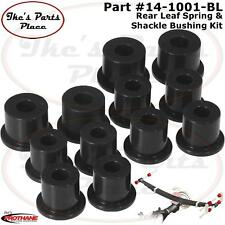 Prothane 14-1001-BL Rear Spring Eye &Shackle Bushing Kit for 80-86 Datsun/Nis PU