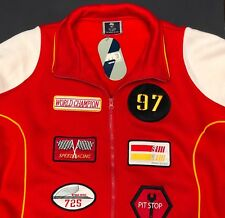 New Race Car Jacket Mens XL Speed Racing Pit Stop USA Flag Patches Bomber Coat