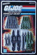 Gi joe Vehicle Gear Accessory Pack #1 Sealed 3 3/4 Action Package New Old Stock