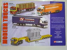 CORGI CLASSICS, NETHERLANDS MODERN TRUCKS INFORMATION SHEET 2001