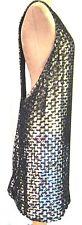 Topshop Unique Sequin Black crochet backless Racer Back party Dress £150 14 new