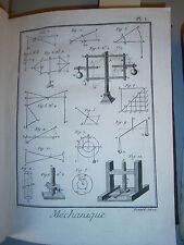 5 Gravures 18° Science technique Direxit Mécanique peson grue  planche figures