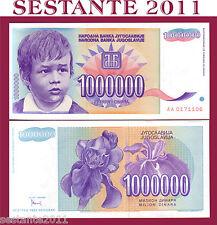YUGOSLAVIA  JUGOSLAVIA 1 MILLION 1000000 1.000.000 DINARA 1993  P 120  FDS / UNC