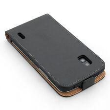 LG Nexus 4 E960 handy tasche schwarz flip case schutz cover etui hülle schale