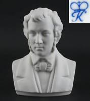 9944075 Bisquit Porzellan Büste Frederic Chopin Kämmer H12cm