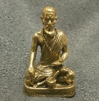THAI MINI AMULET GOOD HEALTH TALISMAN HERMIT CHEEVAKA DOCTOR HEALING LORD BUDDHA