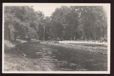 Rp Postcard Three Rivers Mi Seidmore Pool View 1940s