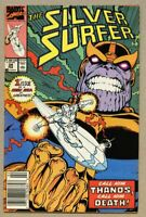 Silver Surfer #34-1990 fn 6.0 Infinity Gauntlet Prelude - Rebirth of Thanos