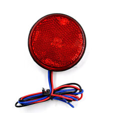 1x Round LED Reflectors Tail Brake Stop Light Motorcycle ATV Truck Car Universal