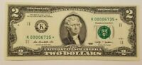 2009 $2 Two Dollars  STAR NOTE Low Serial Number UNCIRCULATED