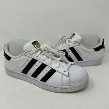Adidas Superstar Men's Shoes Black White Sneakers C77154 Size 7