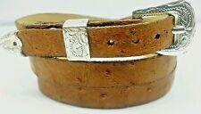 71b7656c6b6 OSTRICH HATBAND TAN Genuine SMOOTH Exotic Skin with Buckle Set Western Hat  Band
